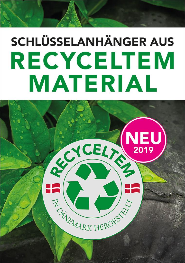 NEU: Schlüsselanhänger aus recyceltem material