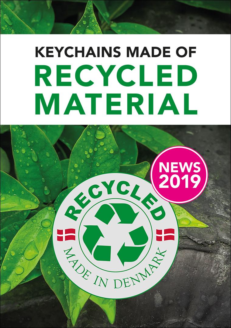 NOUVEAU: Porte-clés en matériau recyclé