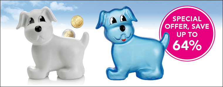 Puppy Moneybox - special stocksale offer