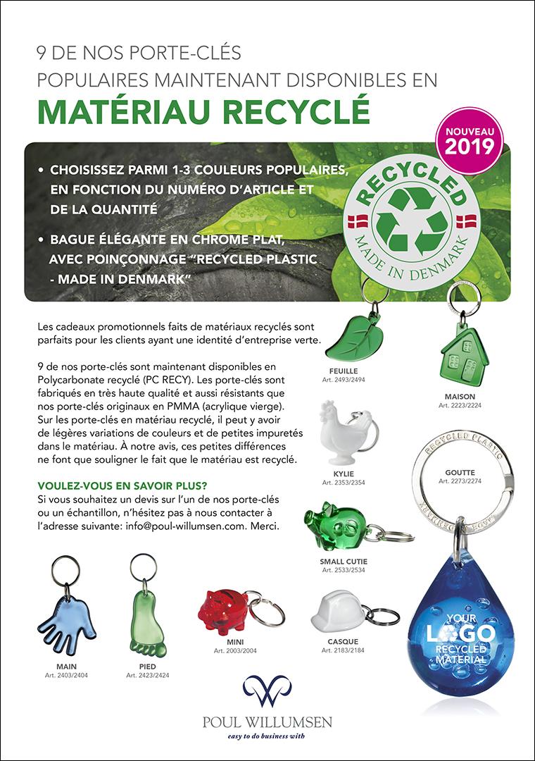 Flyer: Porte-clés en matériau recyclé