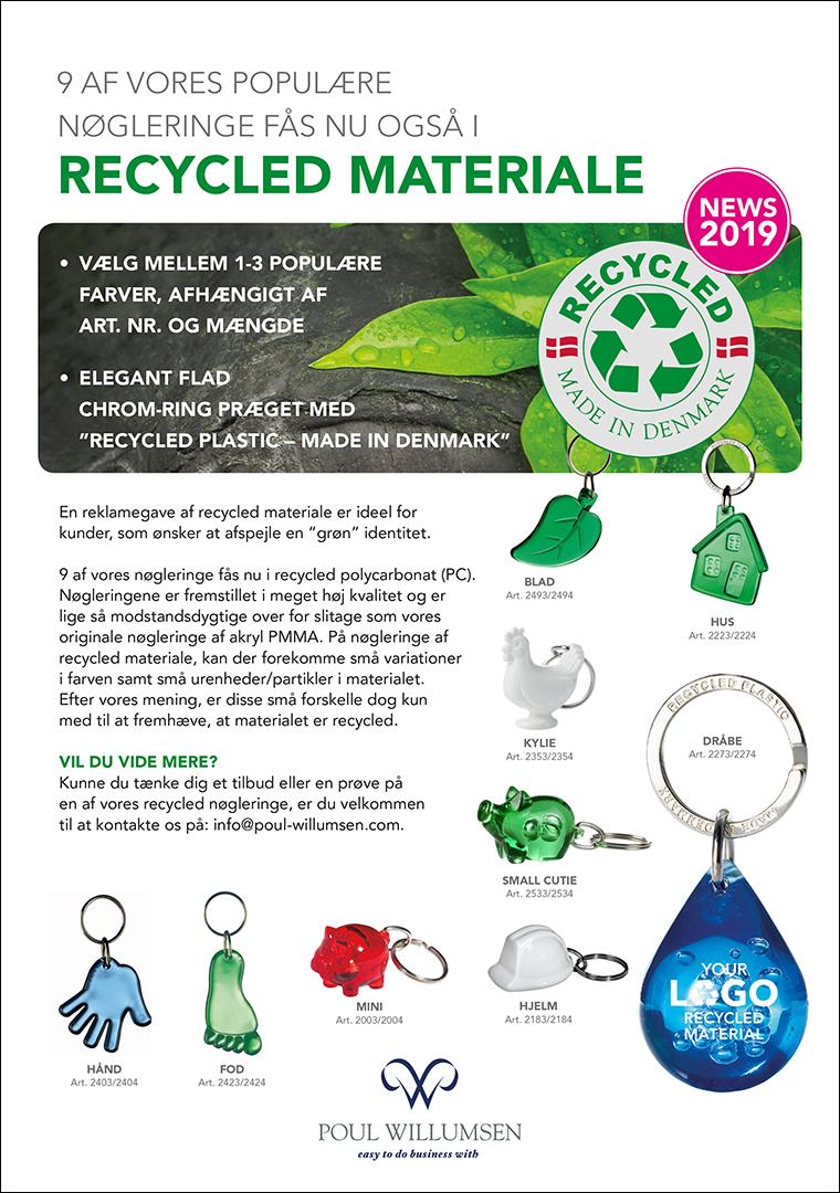 Flyer: Nøgleringe af recycled materiale