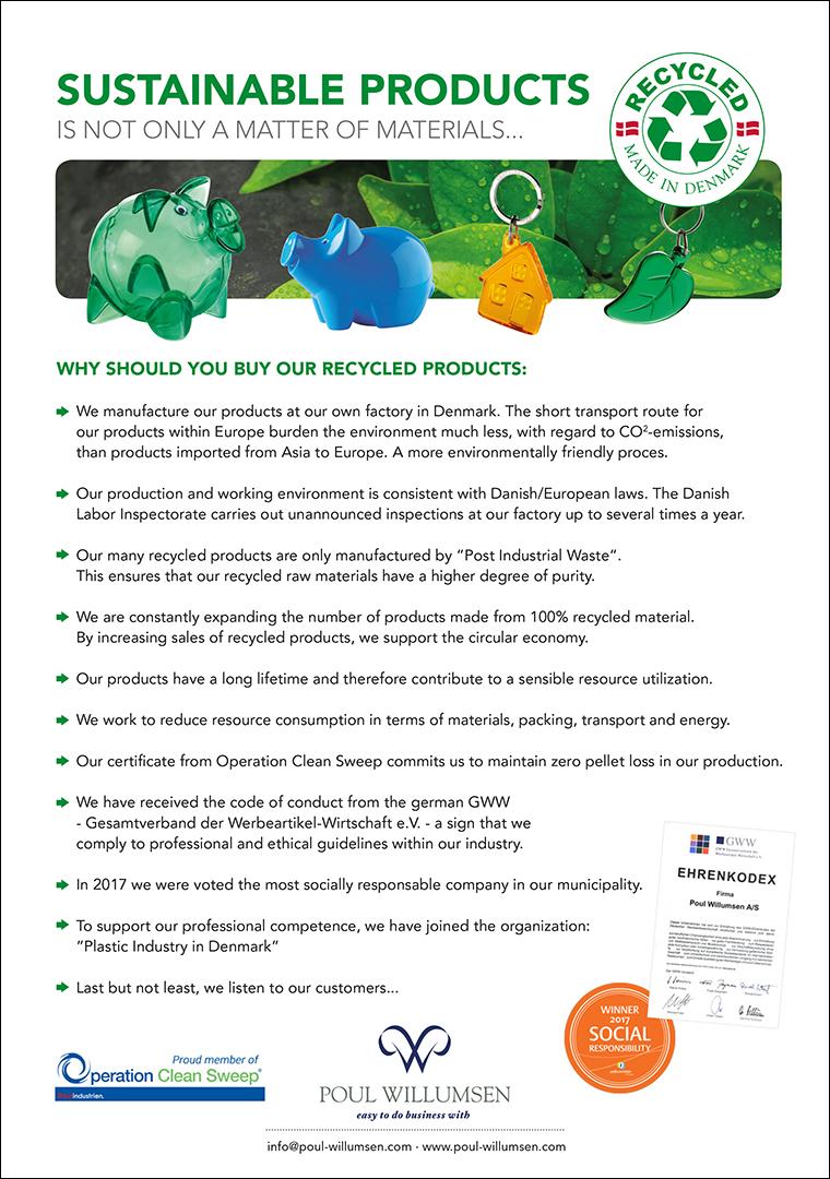 Om vores bæredygtige materialer
